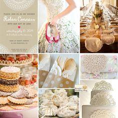 doily themed weddings