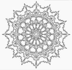 Mandala 707, Creative Haven Kaleidoscope Designs Coloring Book, Dover Publications