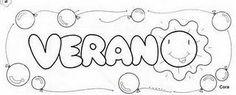 Dibujos para colorear del verano - Paperblog Spanish Bulletin Boards, Pictures To Draw, Arabic Calligraphy, Math, Drawings, Bingo, Montessori, Google, Kids