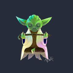 Awesome 'Master+Yoda' design on TeePublic! - Funny Shirt (SciFi Tshirts)