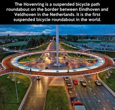 The first suspended bicycle roundabout…