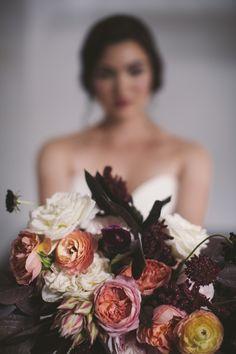 Gorgeous bouquet with rich, warm colors