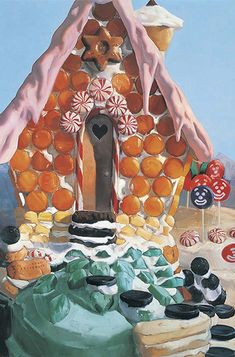 Will Cotton, Candy House, 1999, oil on canvas, 60 x 40 inches. Courtesy of the artist and Mary Boone Gallery