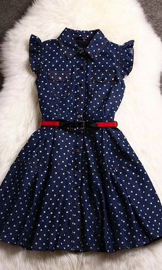 Cowboys Polka Dot Dress for all up an coming Cowgirls ~ La femme