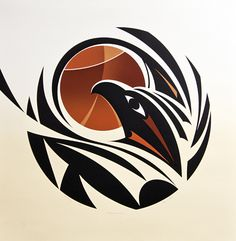 Changing Seasons state I by Susan Point, Coast Salish (Musqueam) artist Haida Kunst, Inuit Kunst, Arte Haida, Haida Art, Inuit Art, Native American Artwork, Native American Symbols, Native American Design, Native Design
