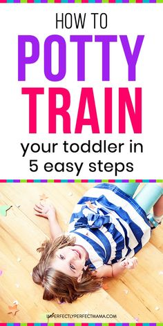 How to Potty Train Your Toddler in 5 Easy Steps. Tips for potty training your toddler. Potty Training Books, Toddler Potty Training, Training Tips, Parenting Toddlers, Parenting Books, Parenting Advice, Parenting Quotes, Toddler Sleep, Thing 1