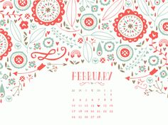 february 2013 desktop calendar wallpaper from Allisa Jacobs