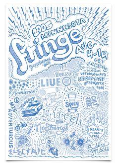 Fringe Festival Posters by Steven Jockisch, via Behance