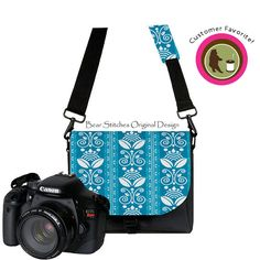 BearStitches handmade camera bag in blue.    http://www.etsy.com/listing/126999136/camera-bags-for-women-padded-interior