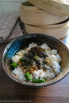 Spargel mit Rührei auf Reis   asien-kulinarisch.de