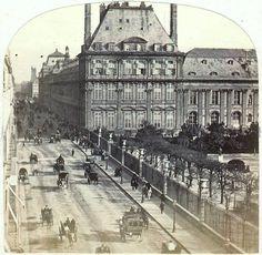 [Le Temps qui passe...] Rue de RIVOLI vers 1865 Photo Lamy En 1860, la rue de Rivoli se présente à peu près comme nous la connaissons aujourd'hui.