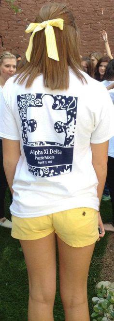 Puzzlepalooza Shirt for our philanthropy event raising money for Autism Speaks