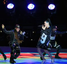 Missy Elliott with Katy Perry at the Super Bowl halftime show.