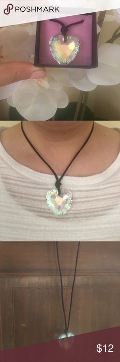 Beclay  - Crystal heart pendant New used only once. Pretty necklace! Beclay Jewelry Necklaces