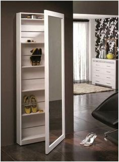 Mueble Auxiliar / Sideboard www. Bedroom Furniture Design, Home Furniture, Shoe Cabinet Design, Dressing Table Design, Diy Home Decor, Room Decor, Bedroom Cupboard Designs, Shoe Storage Cabinet, Rack Design