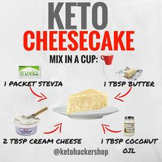 414 Likes, 64 Comments - Brandon Carter . Brandon Carter - KETO CHEESECAKE So you're doing the ketogenic diet but have a craving for a sweet dessert? Not to worry, here is a del. Keto Cheesecake in a mug 8 Awesome Keto Friendly Cheesecake Ideas *dont forg Ketogenic Diet, Ketogenic Recipes, Diet Recipes, Paleo Diet, Vegetarian Keto, Coconut Oil Recipes Keto, Diet Tips, Keto Desserts, Keto Snacks
