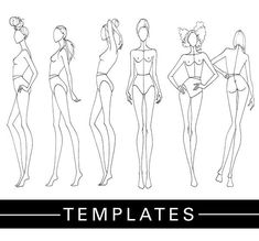 DRAWING | Print Out Tracing Templates And Showcase Your Collection - Fashion Finishing School #fashionillustrations,