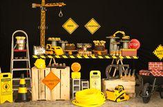 festinha infantil com tema construção - constance zahn