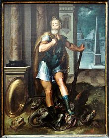 Henry IV, as Hercules vanquishing the Lernaean Hydra (i.e. the Catholic League), by Toussaint Dubreuil, circa 1600.