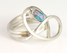 Handmade Opal Brezel solid sterling silver ring Handcrafted Jewelry, Handmade, Sterling Silver Rings, Opal, Gemstone Rings, Jewelry Making, Wedding Rings, Engagement Rings, Jewellery