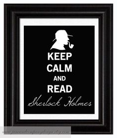 Keep Calm Sherlock Holmes Vintage Style by JaneAndCompanyDesign, $20.00