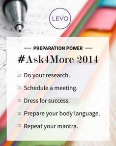 Your #Ask4More Checklist   #Levo #preparation