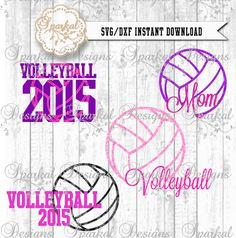 Volleyball Mom SVG Files Sports Mom Cut Files by SparkalSVGDesigns