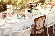 High tea wedding, I love all the details on the table