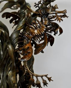 Leafy sea dragon bronze end tables by bronze4u on deviantART