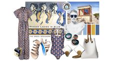 MINOAN LADIES IN BLUE | MOODBOARD | The moodboard draws inspiration from theCretan womenand thefrescoes of Minos palace. TheMinoan civilizationwas a Bronze Age civilization that arose on the island of Crete and flourished from about the 27th–15th century BC.  InLadies in Blue, fresco of Minoan women, aged 1600 BC, it is very evident that women's dress played a great part in Minoan civilization. Read more >> https://thegreekdesigners.com/2016/05/31/minoan-ladies-in-blue-moodboard/
