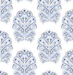 blue + white wallpaper.