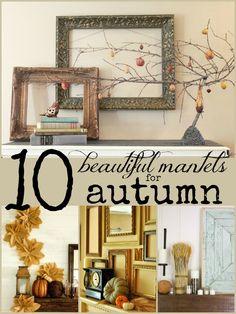 10 Beautiful Fall Mantels | Remodelaholic.com #fall #mantel #decor @Remodelaholic .com