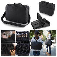 08c9d7babf6 Professional Makeup Bag Cosmetic Case Storage Handle Organizer Artist  Travel Kit  Unbranded Professional Makeup Bag