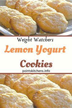 Ingredients: 1 cups all-purpose flour 1 cup whole wheat flour tsp baking soda 1 tsp baking powder 1 tsp salt 1 cups granulated sugar cup low fat lemon yogurt 1 large egg, lightly beaten 2 egg whites, lightly beaten cup Weight Watcher Cookies, Weight Watchers Diet, Weight Watchers Desserts, Health Recipes, Ww Recipes, Dinner Recipes, Low Calorie Desserts, Ww Desserts, Cupcake Recipes