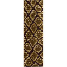 Snake Skin Print Bead Pattern, Bracelet Cuff, Bookmark, Seed Beading Pattern…