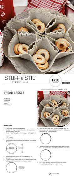 Make your own bread basket with sections for cookies #diy #breadbasket #cookies