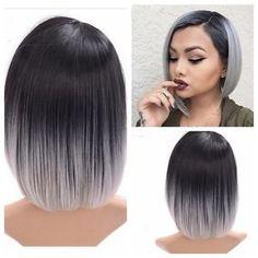 """Résultat de recherche d'images pour """"short hair ombre grey"""""""