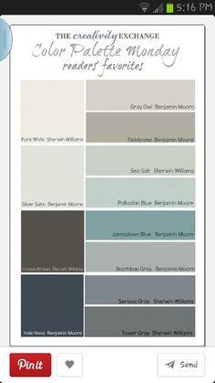 Next house color palettes