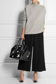 Stella McCartney|Cavendish cutout faux leather tote|NET-A-PORTER.COM