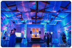 Lakeview Room with Blue Uplighting | Vintage Villas Hotel & Events | Daniel C Photography | Greenbelt DJ