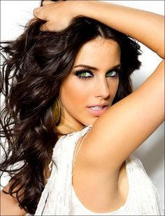 dark brown hair color | Dark Chocolate Brown Hair Color With Blue Eyes & Casual Shaggy Long ...