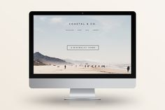 Check out Coastal - Minimalist WordPress Theme by Station Seven on Creative Market Minimalist Wordpress Themes, Wordpress Theme Design, Blog Design, Web Design Inspiration, Sign Design, Texture Web, Design Typography, Grid Layouts, Blog Layout