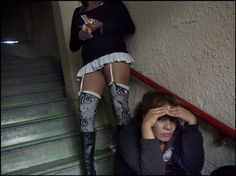 MEXICO. Ciudad Juarez. November 17, 2011.  Prostitutes addicted to heroin in a brothel downtown. Jerome Sessini