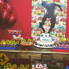 Festa meninos. 13th Birthday, 4th Birthday Parties, Skateboard Party, Skate Party, Ideas Para Fiestas, Extreme Sports, Theme Ideas, David, Baby