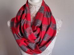 Winter Sale Brushed Flannel Infinity Scarf   by ScarvesBuySharon