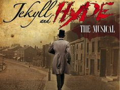 """Jekyll and Hyde Musical Logo - The red """"splattered"""" lettering and the washed out parchment background is kind of what I have in mind visually for the thirteenth floor"""