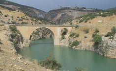 Ala bridge-Görmeli köprüsü-Constructive: Karamanoglu Mahmut Bay's son Halil Bey-Built year: 1305-Ermenek-Karaman (In 2010, under the waters of the Ermenek dam)
