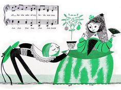 Illustration by Mary Blair from 'My First Sing-A-Song Book' 1966 edition.