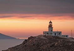 Lighthouse in Mykonos, Greece