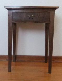 Wood Walnut Bedside Table